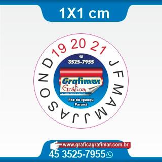 Etiqueta casca de ovo corte redondo - Lacre destrutível) 1x1cm